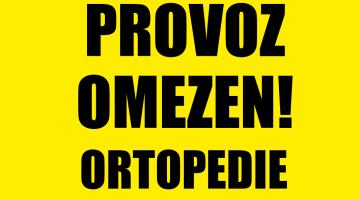 Ortopedická klinika omezuje od pondělí 16. 3. 2020 provoz ambulancí