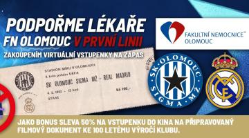 Sigma - Real Madrid: nákupem vstupenky pomůžete FN Olomouc