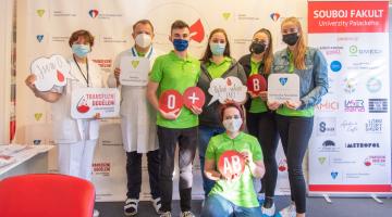 Souboj odstartoval, fakulty Univerzity Palackého se utkají v darování krve