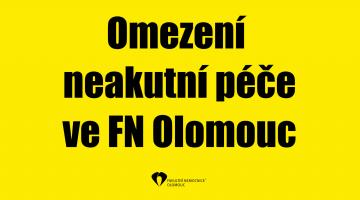 Omezení neakutní péče ve FN Olomouc
