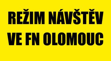 Režim návštěv u hospitalizovaných pacientů ve FN Olomouc