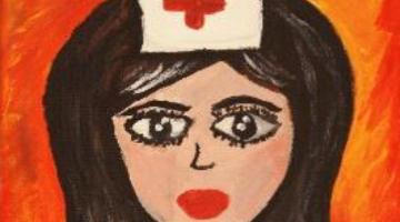 Sestra z I. chirurgické kliniky vystavuje obrazy na Velehradě